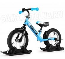 Combo Drift - Беговел с лыжами и колесами Small Rider Roadster 2 AIR (синий)