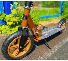 Самокат Bibitu Cross Brown с надувными колесами