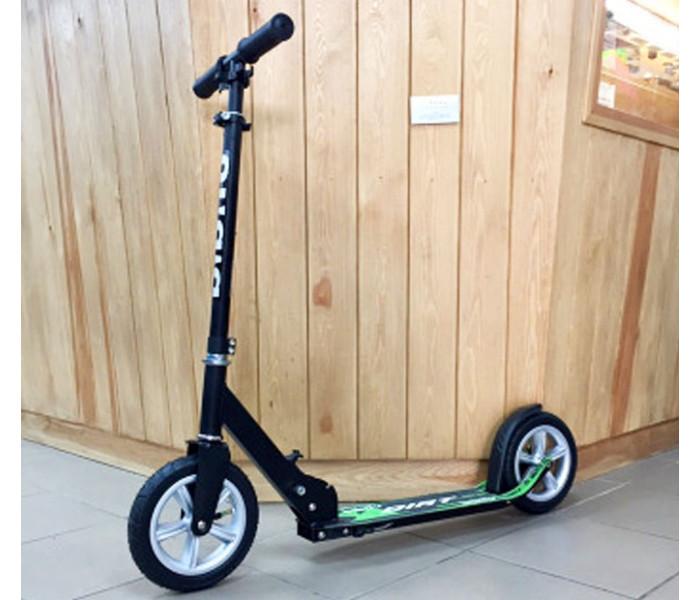 Самокат Bibitu DIRT с надувными колесами 205мм (черный)