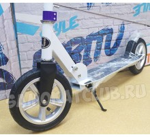 Самокат Bibitu Cross с надувными колесами (белый)
