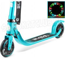 Самокат BLADE Kids Jimmy 145 со светящимися колесами aqua/metallic