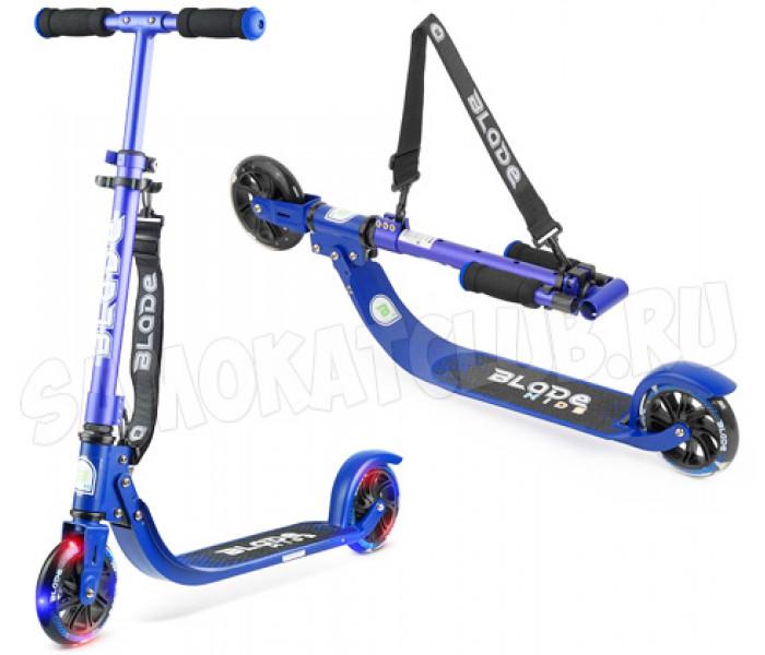Самокат BLADE Kids Jimmy 145 blue/metallic со светящимися колесами