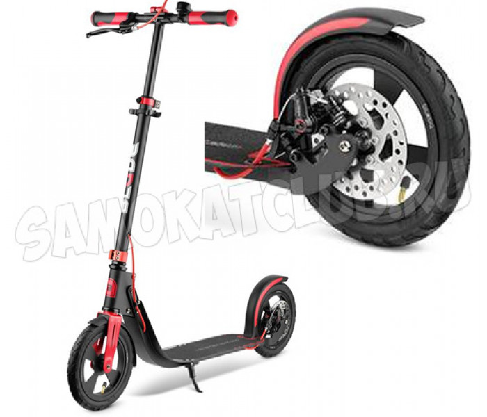 Самокат BLADE Sport Air Cross Disk 230 mm, black/red с надувными колесами
