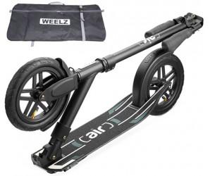 Weelz Air Black 2020 самокат с надувными колесами + Сумка