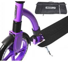 Weelz Rock бело-фиолетовый самокат с большими колесами и амортизатором