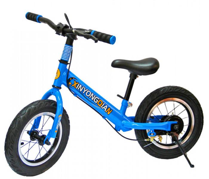 Беговел детский Explore A1 (синий) с ручным тормозом