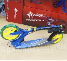 Explore PANTERA самокат двухколесный с ручным тормозом (голубой)