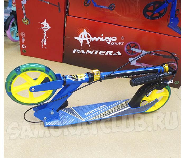Самокат Explore PANTERA (голубой) со светящимся колесом