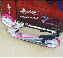Explore PANTERA самокат двухколесный с ручным тормозом (розовый)