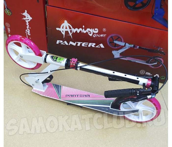 Самокат Explore PANTERA с большими колесами 200мм и светящимся колесом