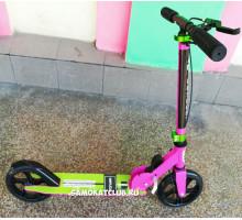 Explore Replica (розовый) самокат с ручным тормозом и светящимся колесом