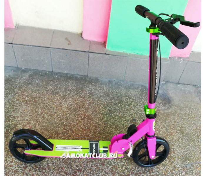 Самокат Explore Replica с большими колесами 200мм (розовый)