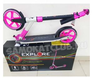 Самокат Explore Tremer Pro розовый с амортизатором