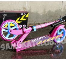 Explore MONTEGO розовый (2019) самокат с ручным тормозом