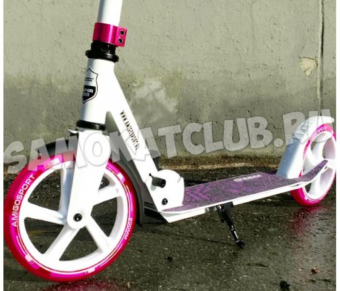 Самокат Explore CHASER Pink с большими колесами 200мм (светится колесо)