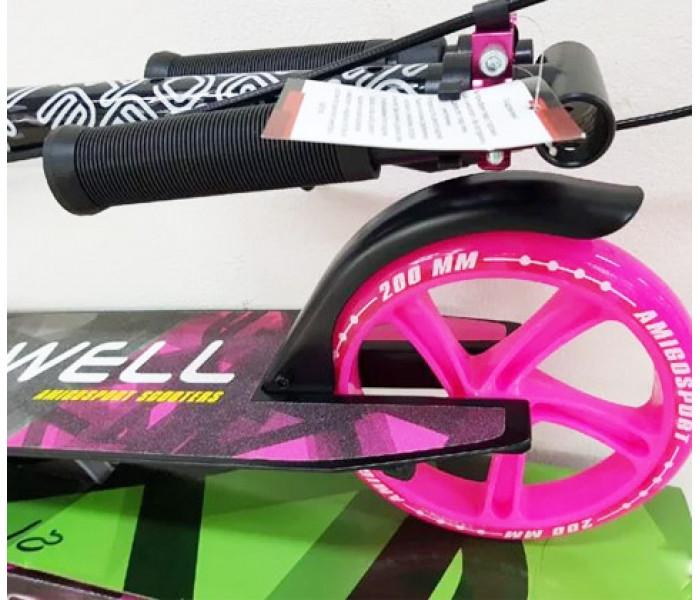 Самокат Explore DOWELL розовый (светится колесо)