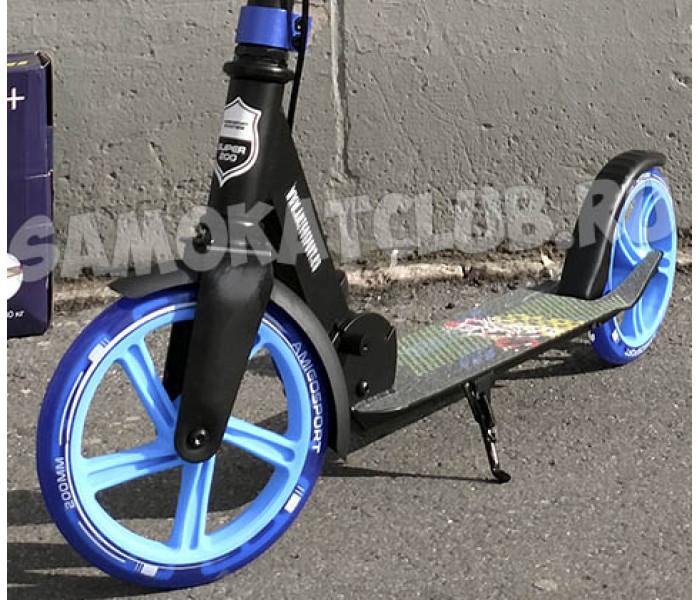 Самокат Explore CORBELL синий (светится колесо) с тормозом на руле