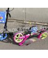 Самокат Explore CORBELL розовый (светится колесо) с тормозом на руле
