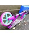 Самокат Explore GRANDE розовый (светится колесо) с тормозом на руле
