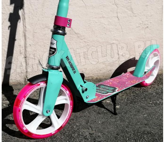 Самокат Amigo Groove 200 мятно-розовый (светится колесо)