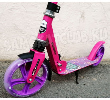 Самокат Explore GROOVE SUPER 200 Pink (2020) с амортизатором + звонок