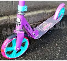 Самокат двухколесный Amigo CREED Pink (2020) светится колесо + звонок