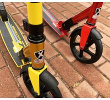 Explore Dagger 200 (красный, желтый) самокат с большими колесами 200мм