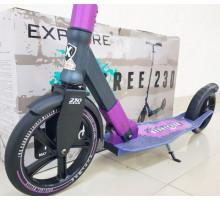 Самокат Explore Degree 230 Violet с большими колесами