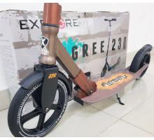 Самокат Explore Degree 230 бронза с большими колесами