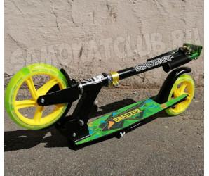 Самокат Ecoline BREEZER 200 (2021) зеленый. Светится колесо