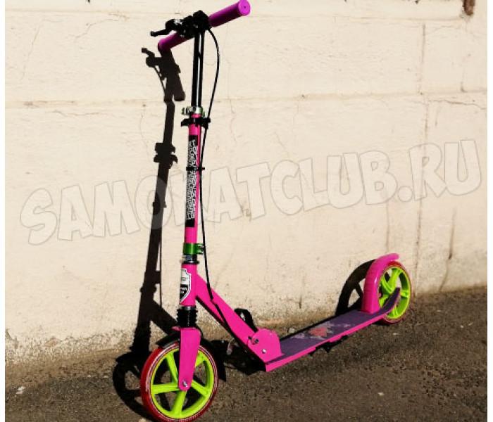 Самокат Explore PRIME SUPER 200 розовый с большими колесами и амортизатором