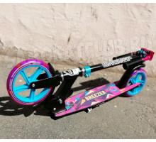 Самокат Ecoline BREEZER 200 (2021) розовый. Светится колесо