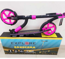 Explore CANBERRA PRO Pink (2019) самокат с большими колесами