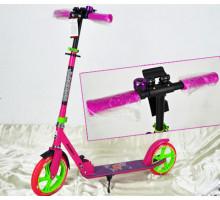 Explore PRIME Pink (2020) самокат с большими колесами 230/200 + звонок в комплекте