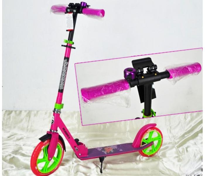 Самокат Explore PRIME (2020) с большими колесами + звоночек (розовый)