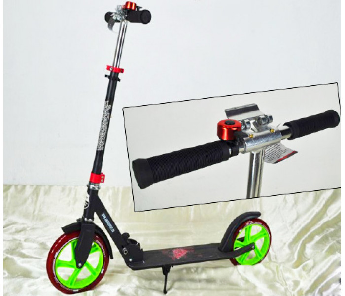 Самокат Explore PRIME (2020) с большими колесами + звоночек (черный)