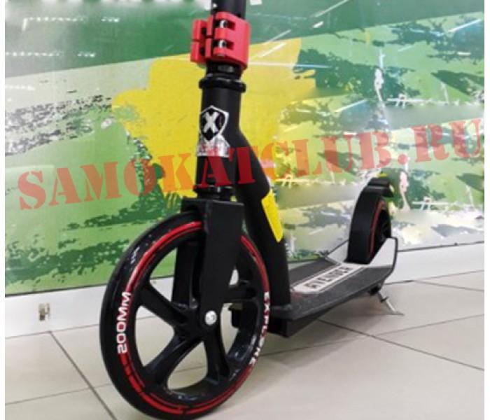 Самокат Explore Avenger 2018 (черный) с большими колесами 200мм