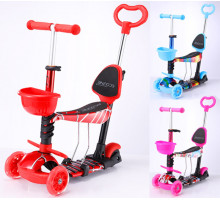 Explore ALFA WT 3в1 самокат детский  со светящимися колесами