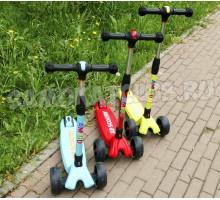 Детский самокат Ecoline SANDERO (2019) со светящимися колесами и складной ручкой