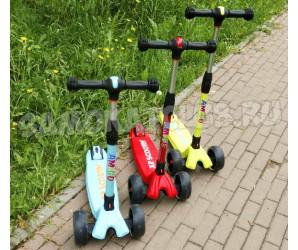 Ecoline SANDERO (2019) самокат со светящимися колесами и складной ручкой