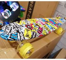 """Explore Monto 22"""" буквы скейт со светящимися колесами"""