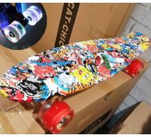 """Explore Monto 22"""" граффити скейт со светящимися колесами"""