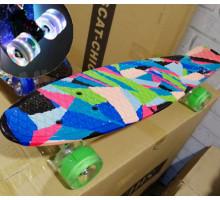 """Explore Monto 22"""" цветной скейт со светящимися колесами"""