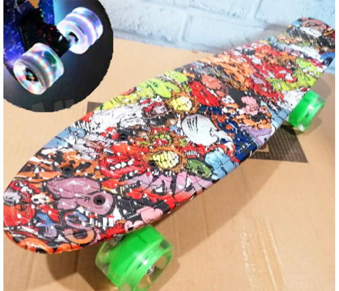 Скейтборд Ecoline SHINE 2021 c цветным рисунком