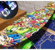 """Explore Freek 22"""" зеленый скейт со светящимися колесами"""