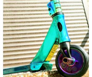 Explore SCAT (Neo Chrome) Green трюковой самокат с пегами
