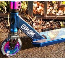 Explore SCAT Chic blue (Neo Chrome) 2020 трюковой самокат с пегами
