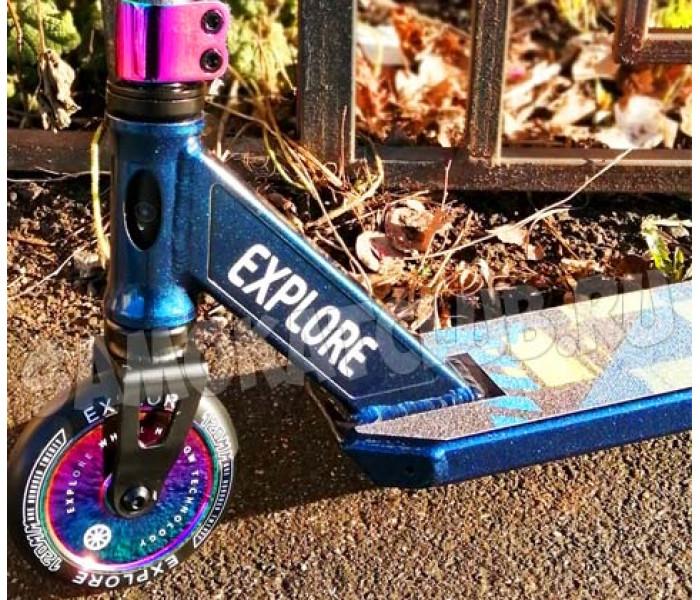 Трюковой самокат Explore SCAT Chic Нео Хром 2020 (синий)