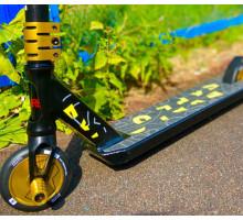 Explore Booger Black/Yellow HIC Трюковой самокат с пегами