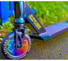 Explore SCAT Chic green (Neo Chrome) 2020 трюковой самокат с пегами